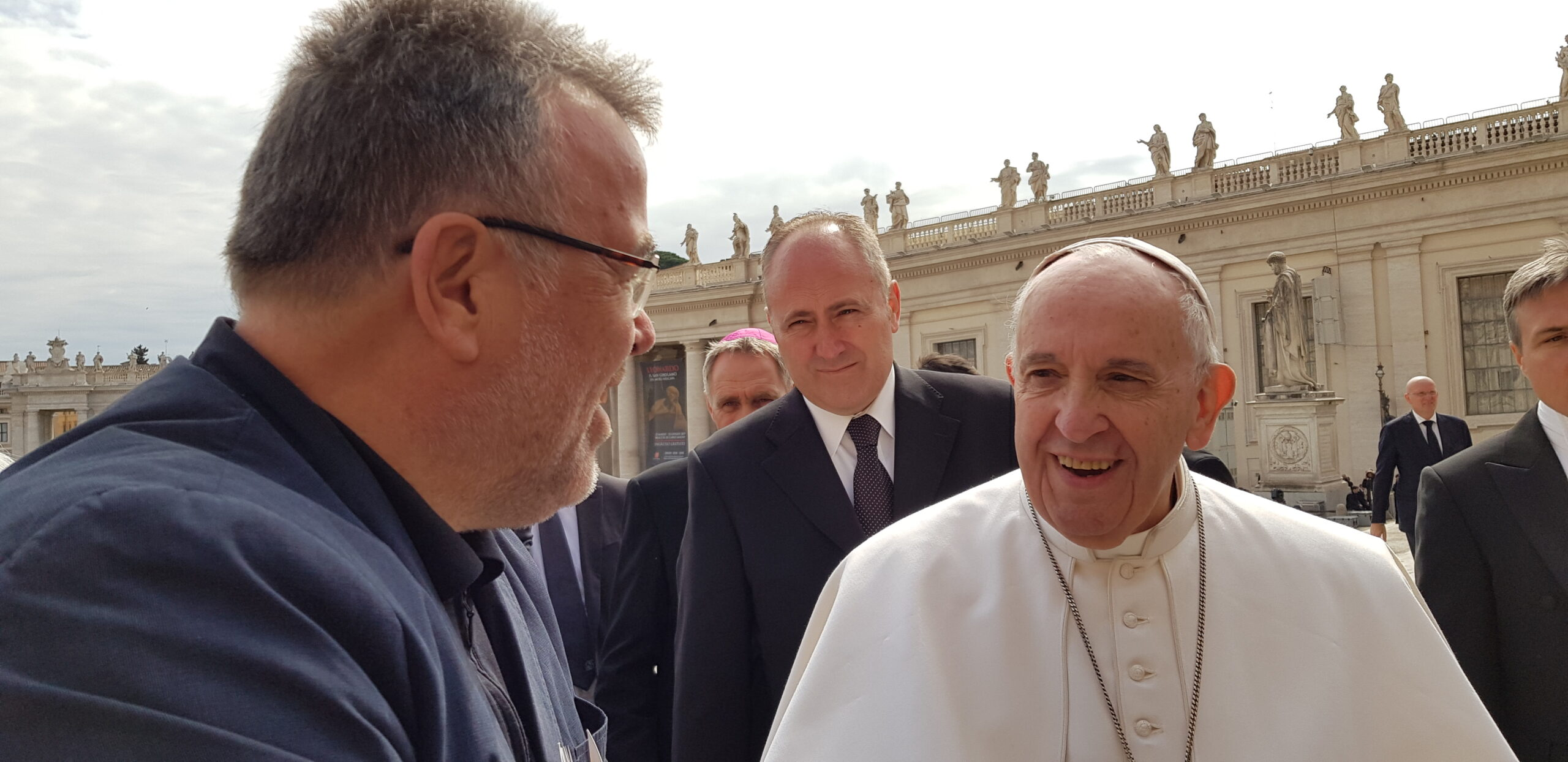 Ekkehart Vetter bei Generalaudienz von Papst Franziskus