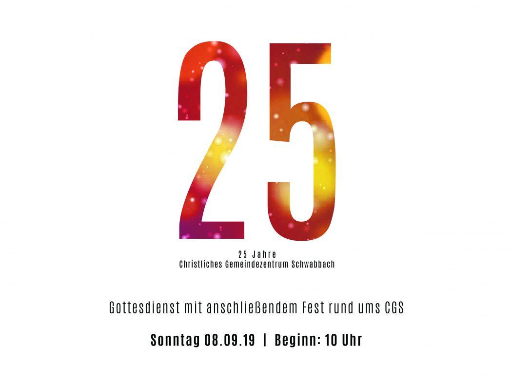 Christliches Gemeindezentrum Schwabbach feiert Jubiläum